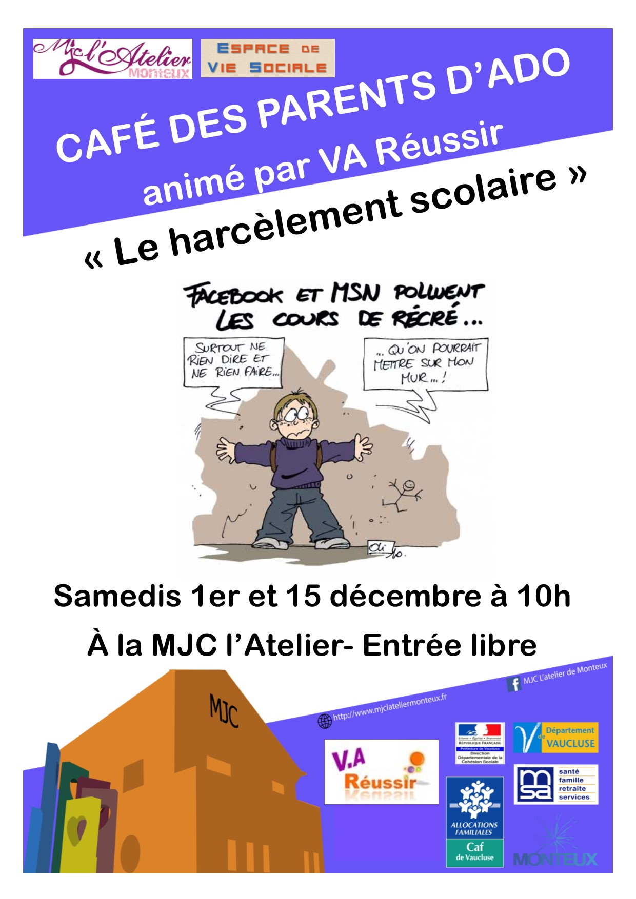 Affiche cafe des parents