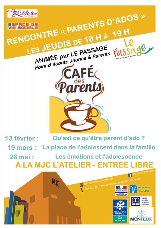 Affiche cafe parent ados 2020