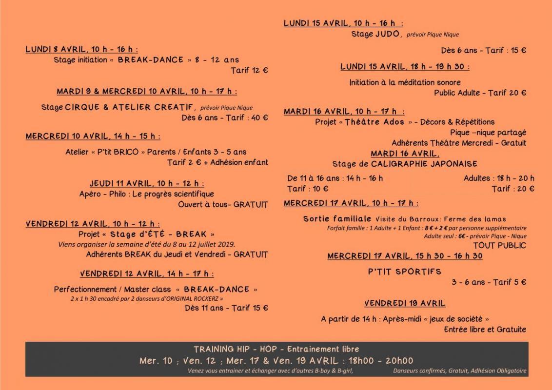 Programme printemps 2 2 19